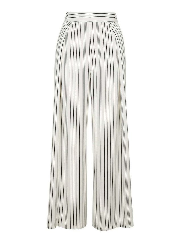 Topshop Stripe Wide Leg Crop Trousers