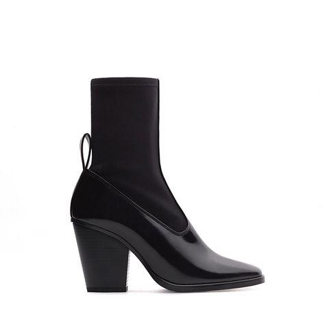 Contrast Materials Ankle Booties