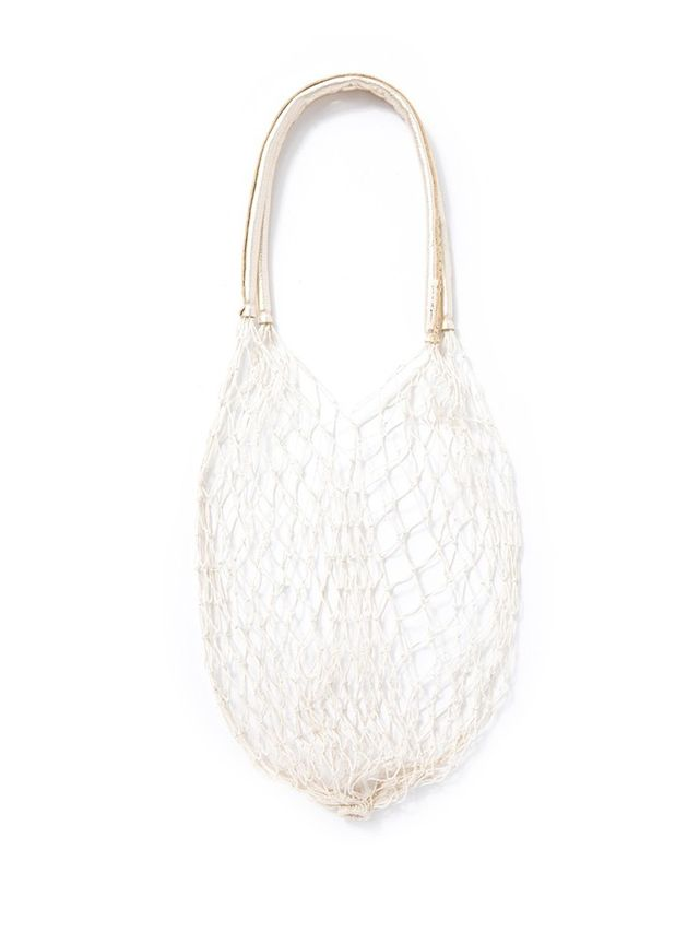 And So It Goes The Net Bag in White/Gold