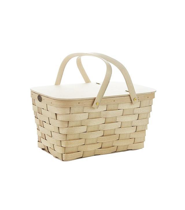 Leather-Handled Picnic Basket