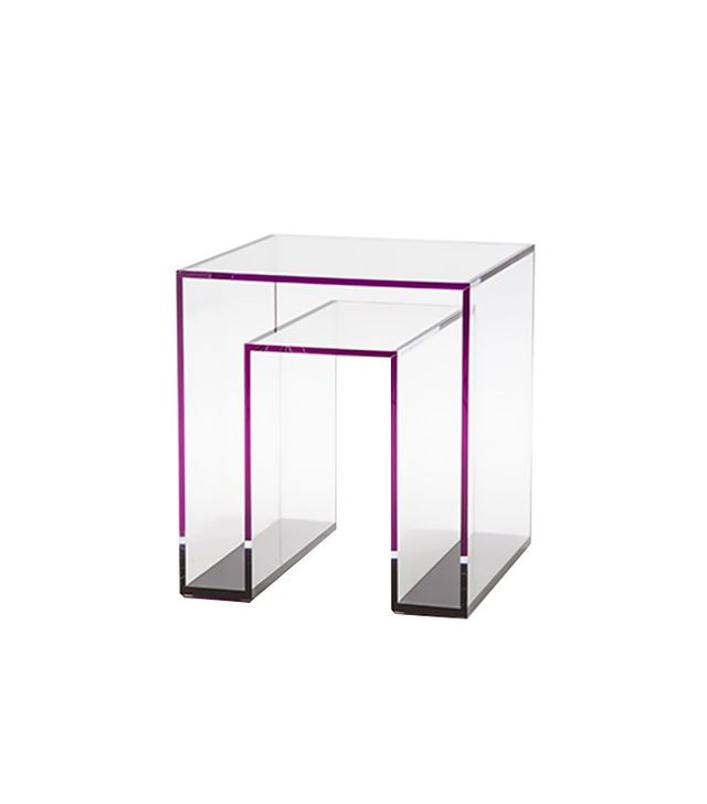 Alexandra von Furstenberg Brilliant Acrylic Side Table