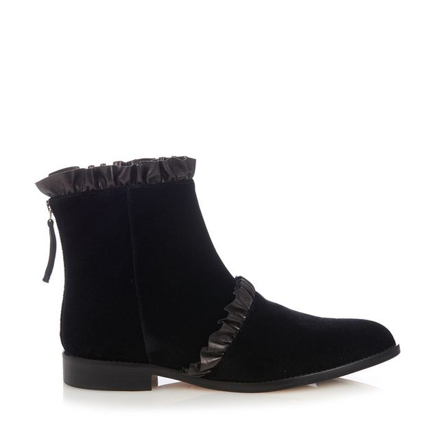 Christopher Kane Velvet and Leather Ankle Boots
