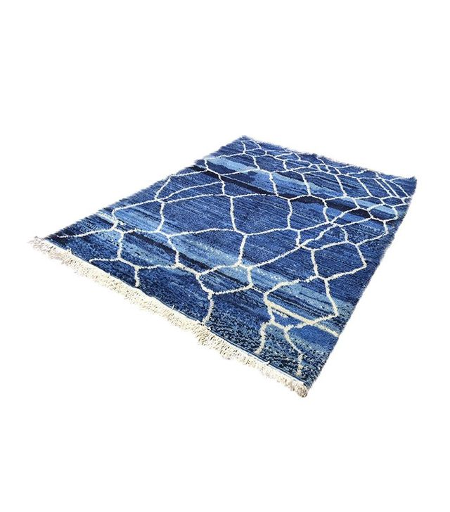 Chairish Blue Beni Ourain Moroccan Berber Rug