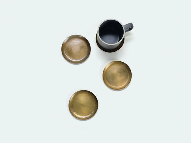 Fog Linen Works Brass Coasters