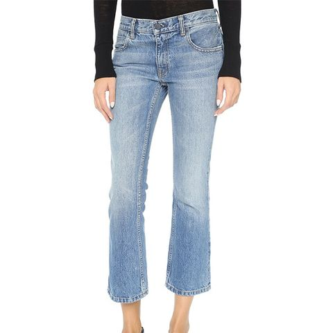 Trap Cropped Boot Cut Jeans