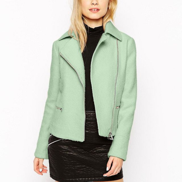ASOS Biker Jacket in Wool