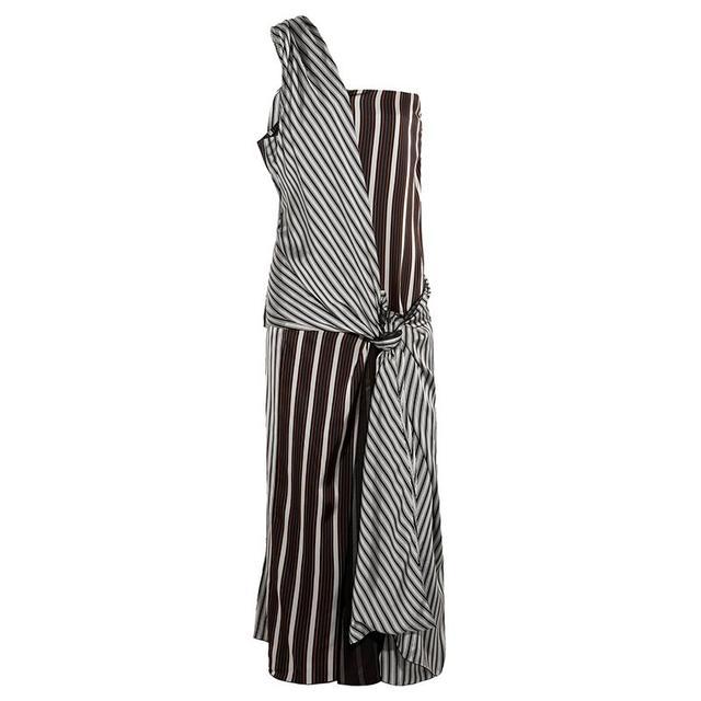 Joseph Mishar One-Shoulder Dress