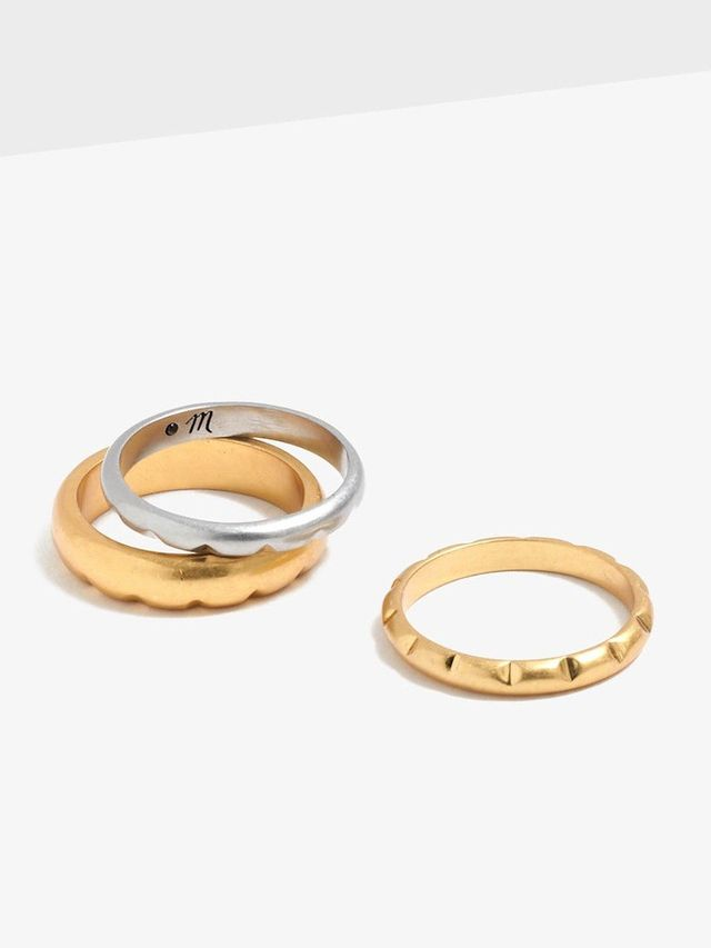 Madewell Facet Stacking Ring Set