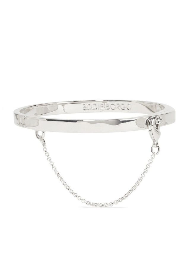 Eddie Borgo Safety Chain rhodium-plated bracelet