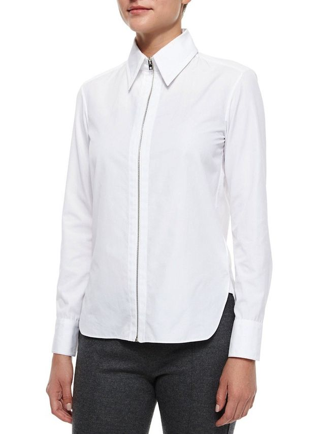 Rag & Bone Frances Zip-Front Shirt