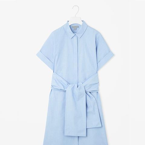 Shirt Dress With Chunky Tie