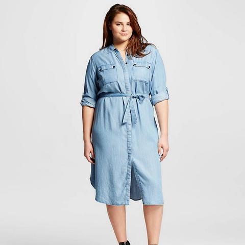 Plus-Size Midi Shirtdress