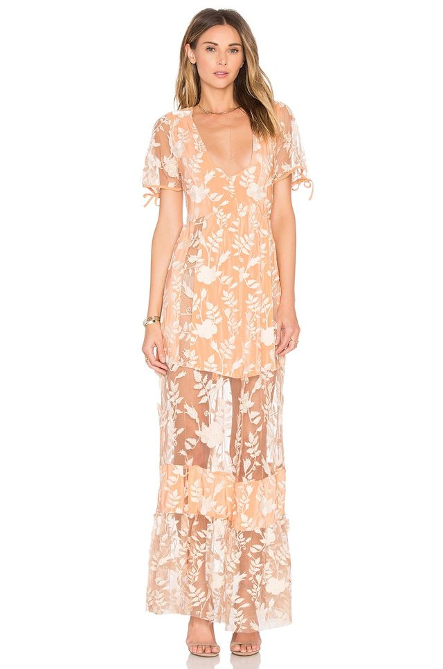 For Love & Lemons Mia Maxi Dress