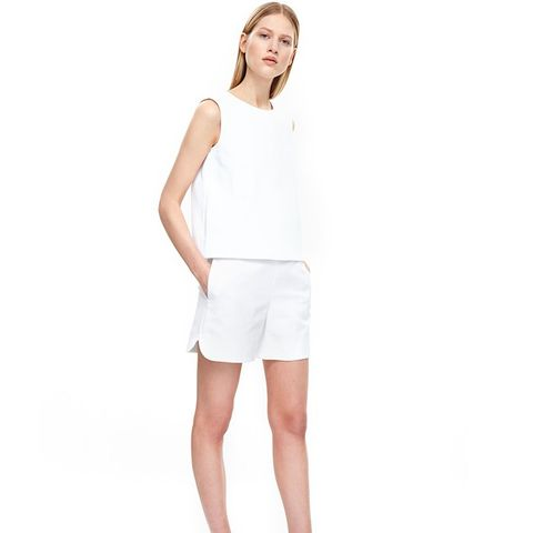 Rounded Textured Shorts
