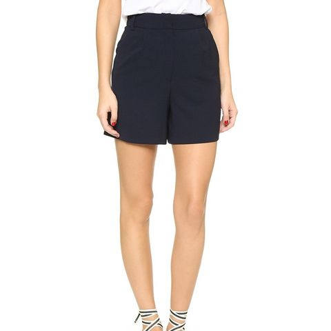 Wide-Leg Trouser Shorts