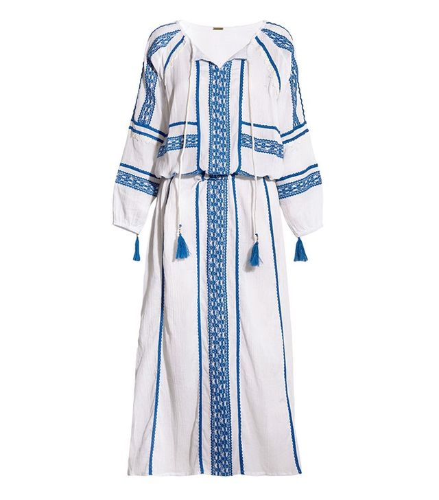 Dodo Bar Or Embroidered Cotton-Crepon Maxi Dress $325