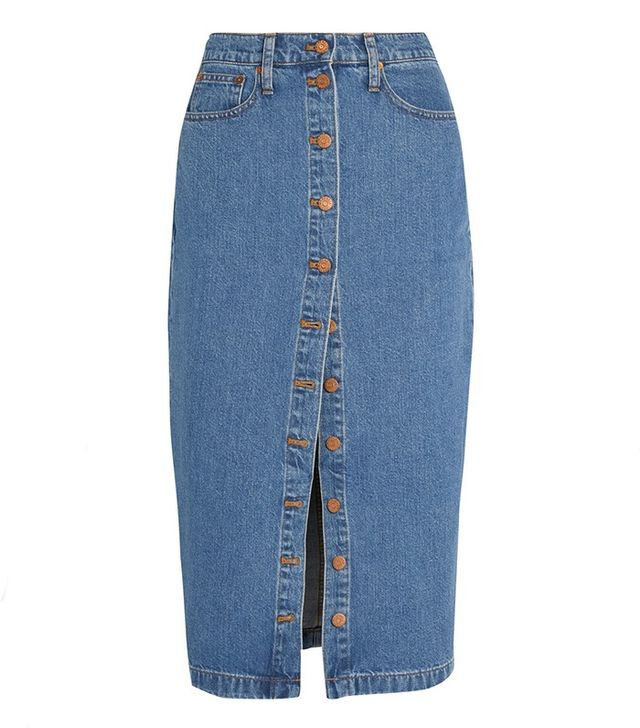 Madewell Denim Midi Skirt