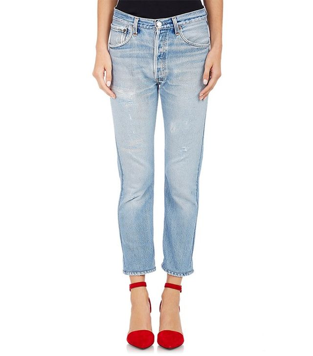 Re/Done High-Waist Skinny Crop Jeans
