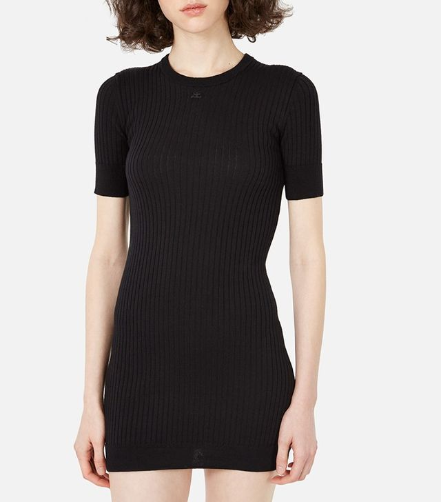 Courreges Classic Round Neck Short-Sleeve Dress