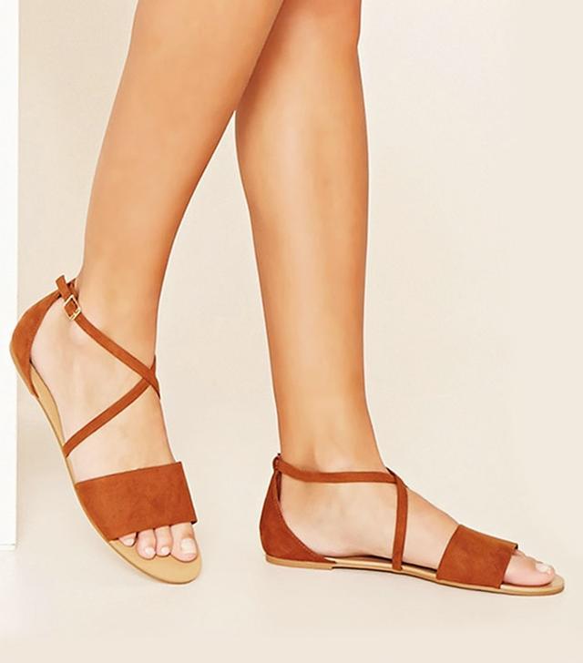 Forever 21 Crisscross Faux Suede Sandals
