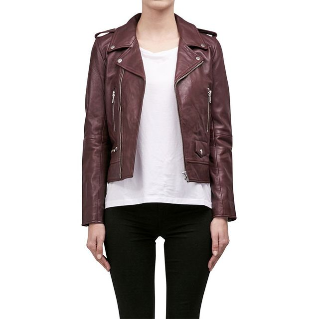 Nicholas Leather Zip Biker Jacket