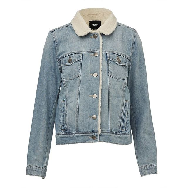 Sportsgirl Shearling Denim Jacket
