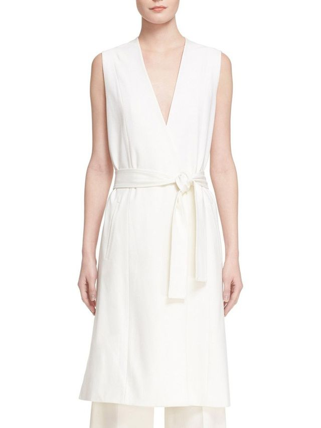 Vince Sleeveless Wrap Vest
