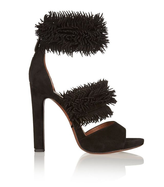 Alaïa Fringed Suede Sandals