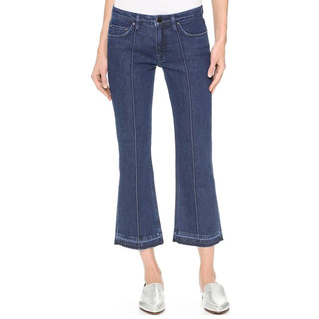 Victoria Victoria Beckham Creased Crop Jeans