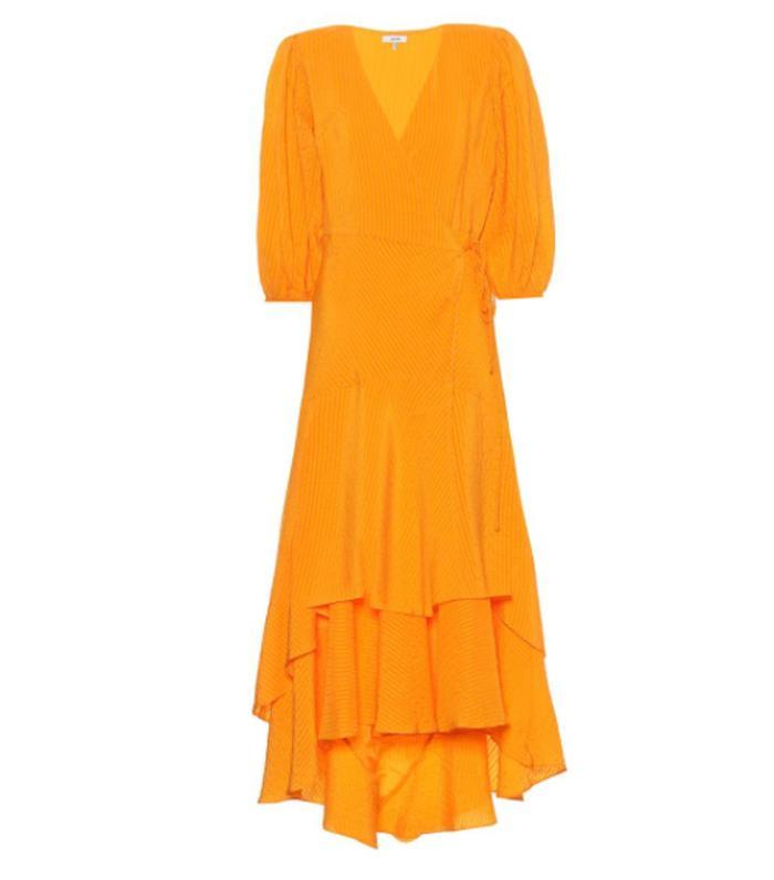 Ganni Wilkie Silk and Cotton Midi Dress