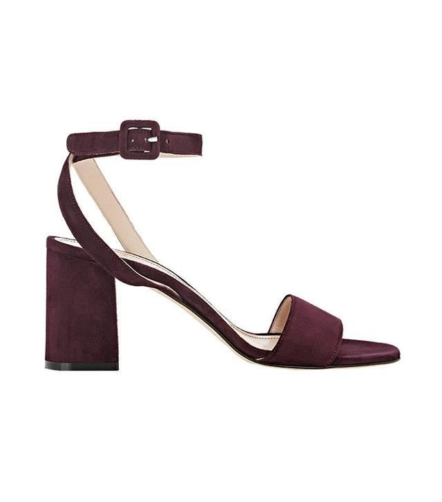 Barneys New York Crisscross Ankle Strap Sandals