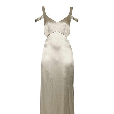 Cold Shoulder Cut-Out Midi Dress