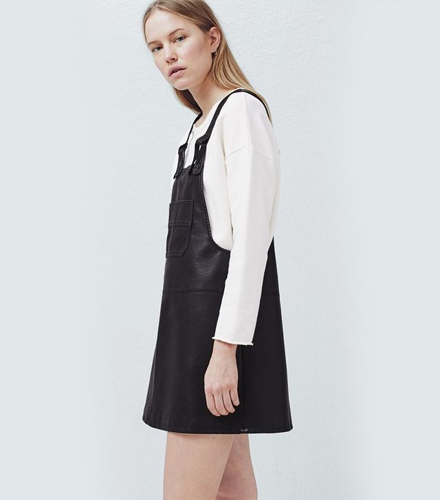Mango Pockets Pinafore Dress
