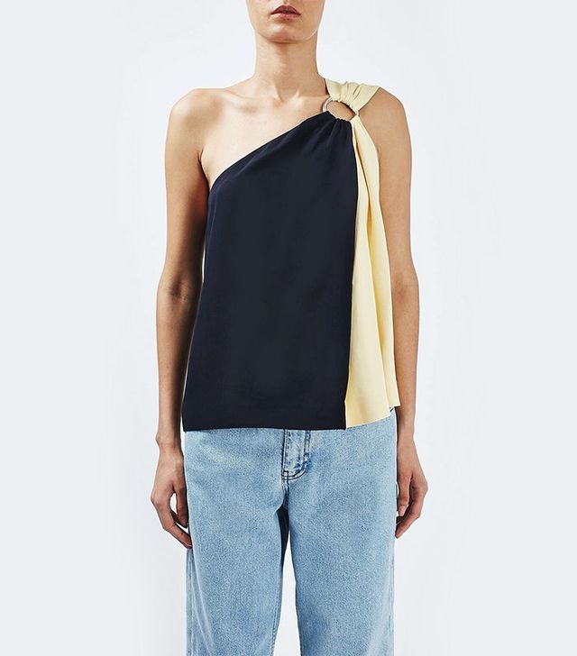 TOPSHOP Boutique Asymmetric Ring Top