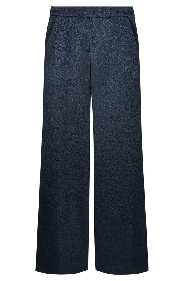 Atea Oceanie x Man Repeller Wide Leg Lame Pants