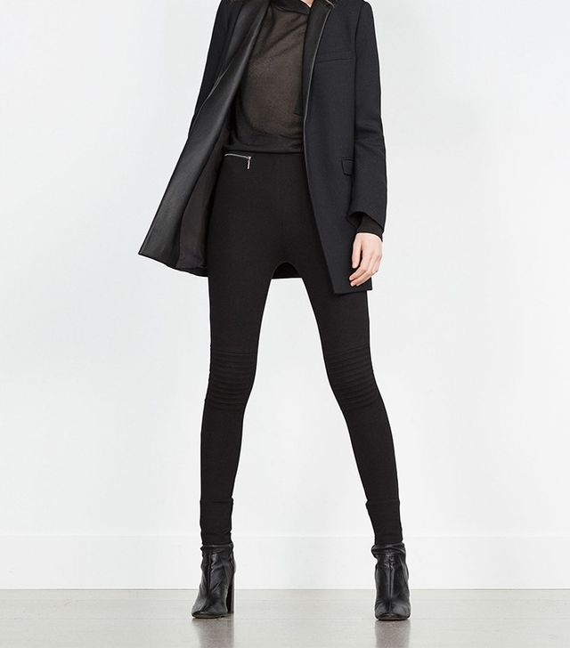 Zara Body Shaping Biker Leggings