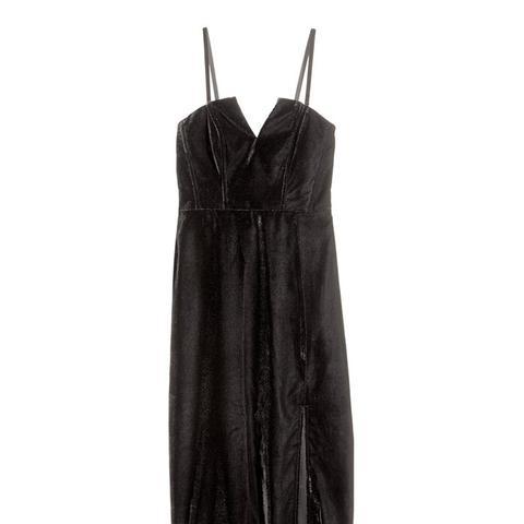 Bandeau Velvet Dress