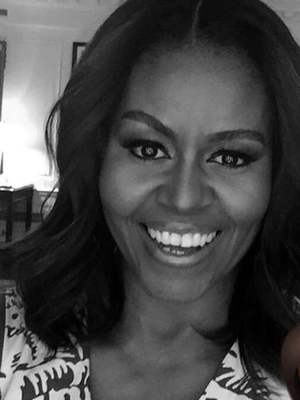 Michelle Obama Debuted the Prettiest Dress on Her First Snapchat