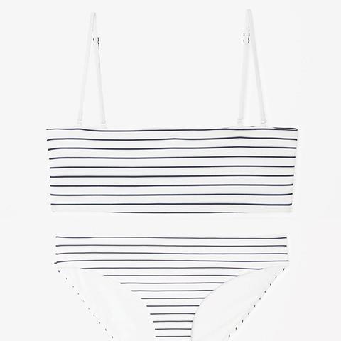 Bikini Top With Striped Seams