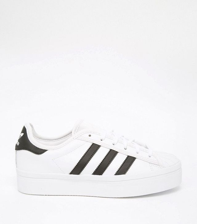 Adidas Superstar White & Black Rise Sneakers