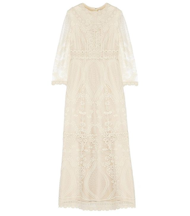 Anna Sui Crochet Maxi Dress