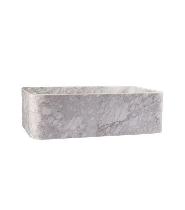 Rejuvenation Carrara Marble Kitchen Sink