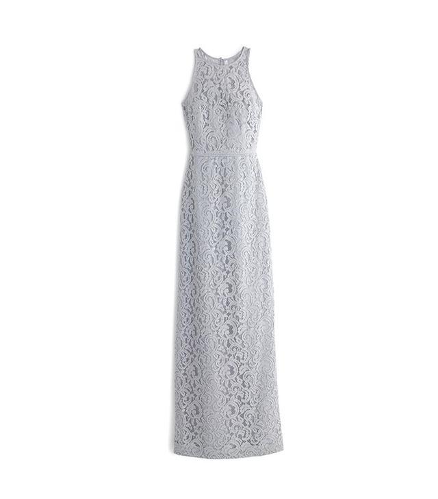 J.Crew Pamela Long Dress in Leavers Lace