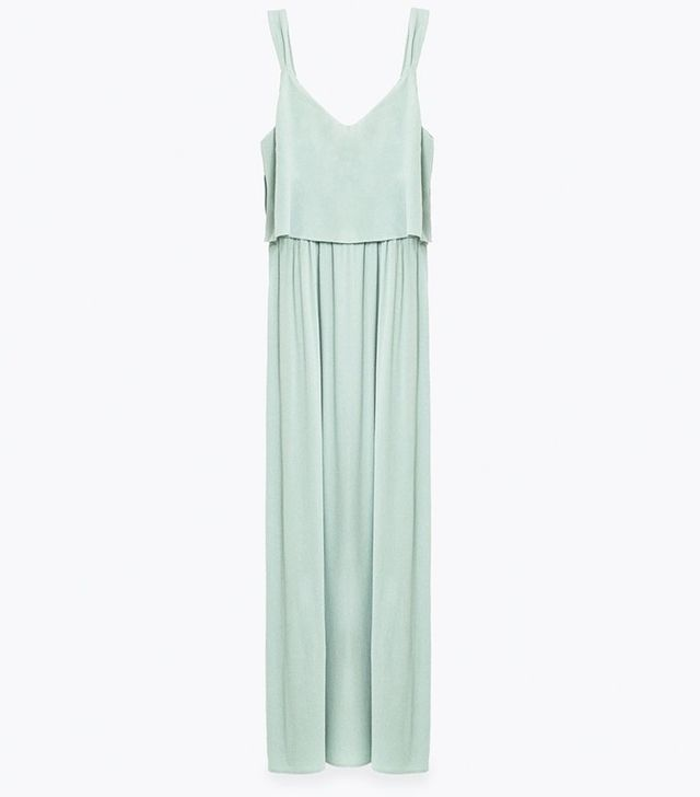 Zara Dress With Layered Top