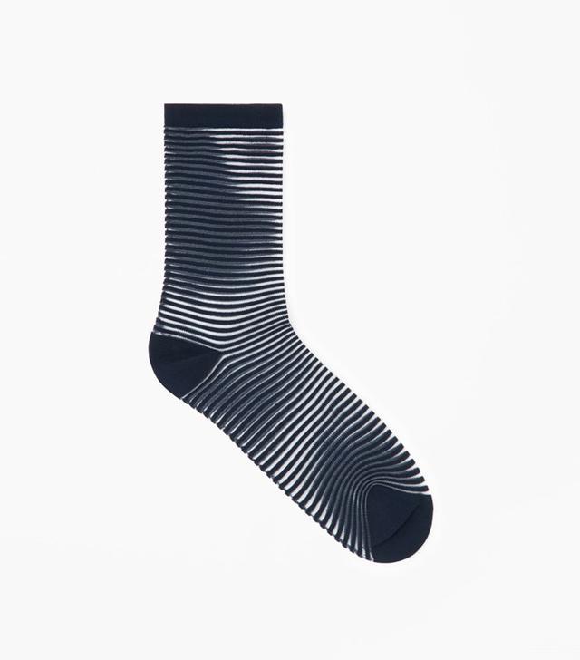 COS Sheer Striped Sock