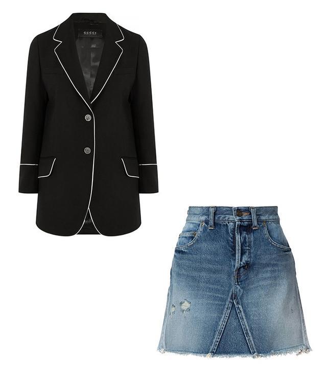 Gucci Silk-Trimmed Wool-Twill Blazer