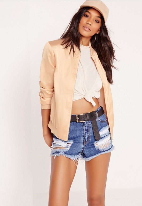 Missguided Satin Bomber Jacket
