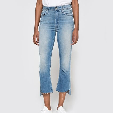Denim Insider Crop Step Fray