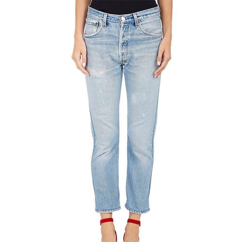 High-Waist Skinny Crop Jeans