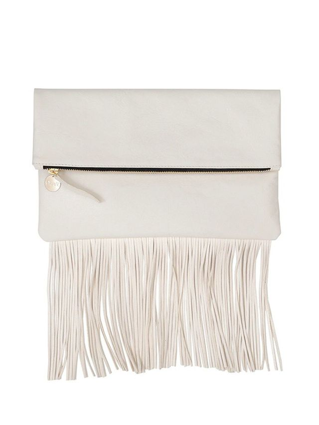 Clare V. Fringe Fold-Over Clutch Bag